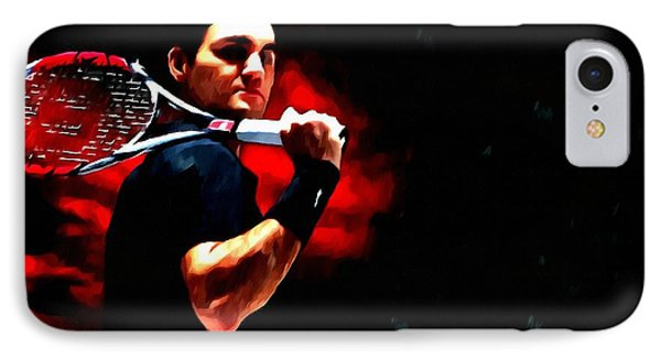 Roger Federer Tennis Phone Case by Lanjee Chee