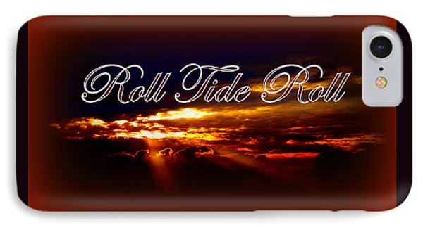 Roll Tide Roll W Red Border - Alabama IPhone Case by Travis Truelove