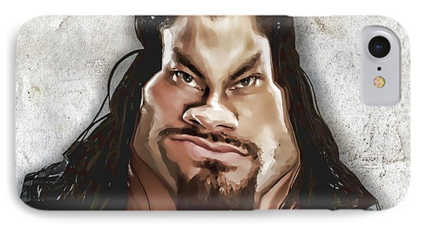 Roman Reigns Caricature By Gbs Phone Case by Anibal Diaz
