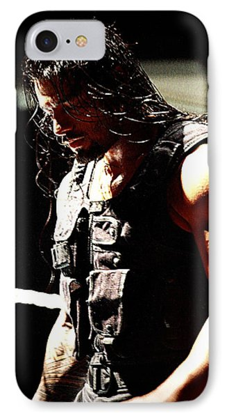 Roman Reigns IPhone Case by Paul  Wilford