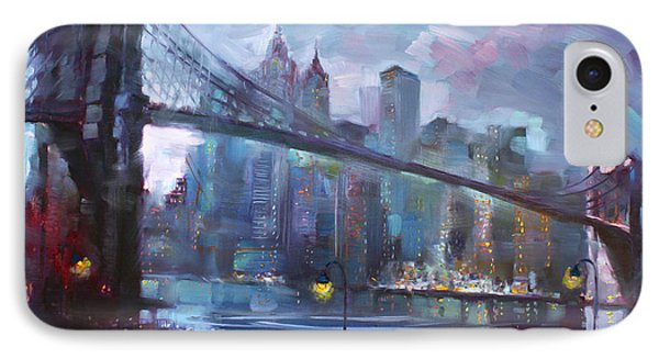 Romance By East River II IPhone Case by Ylli Haruni