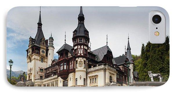 Romania, Transylvania, Sinaia, Peles IPhone 7 Case by Walter Bibikow