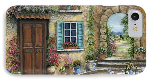 Romantic Tuscan Courtyard IPhone Case by Marilyn Dunlap