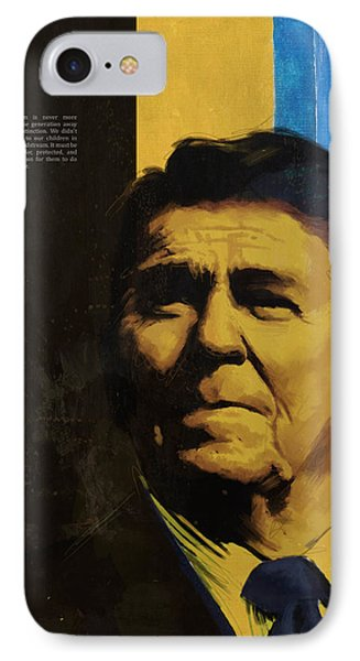 Ronald Reagan IPhone Case by Corporate Art Task Force