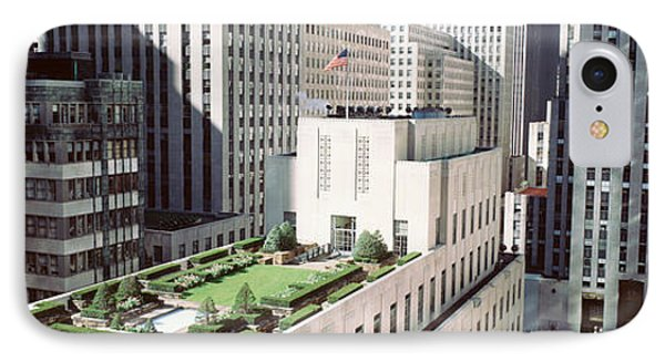 Rooftop View Of Rockefeller Center IPhone Case by Panoramic Images