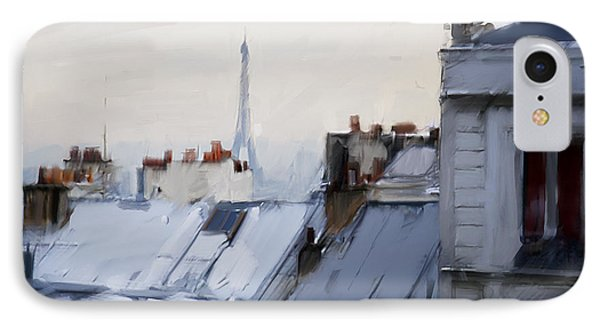 Rooftops Of Paris IPhone 7 Case by H James Hoff