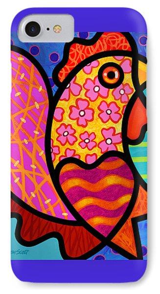 Rooster Dance IPhone 7 Case by Steven Scott
