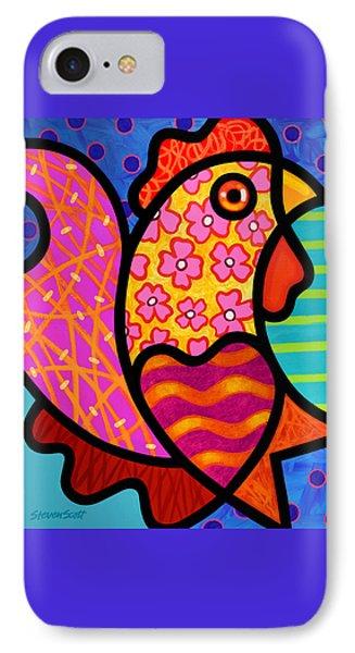 Rooster Dance IPhone Case by Steven Scott