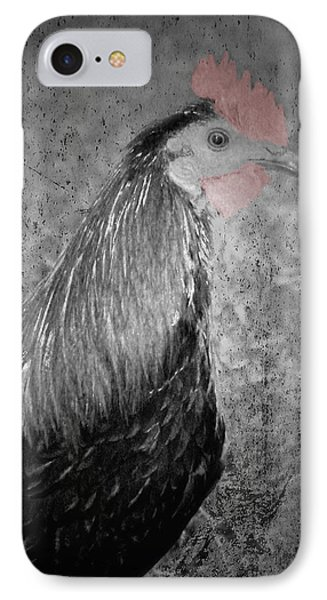 Rooster Red Portrait Select IPhone Case by Lesa Fine