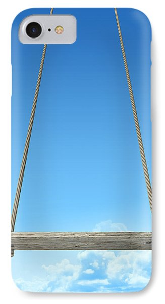 Rope Swing With Blue Sky IPhone Case by Allan Swart