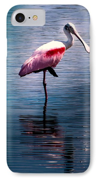 Roseate Spoonbill IPhone Case by Karen Wiles