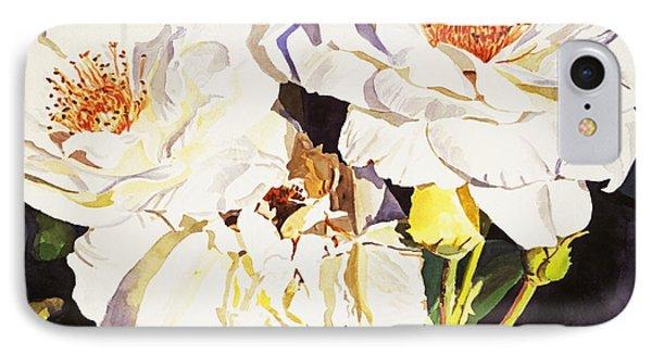 Roses Blanc IPhone Case by David Lloyd Glover