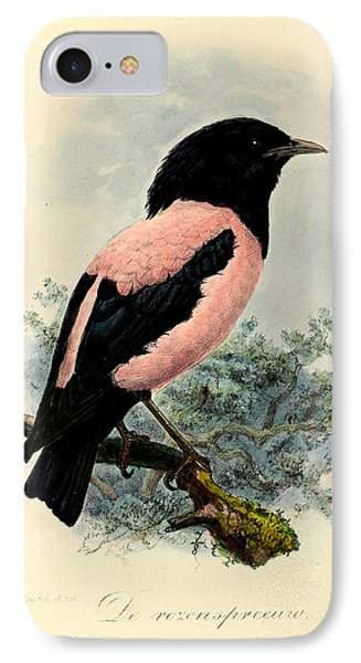 Rosy Starling IPhone 7 Case by J G Keulemans