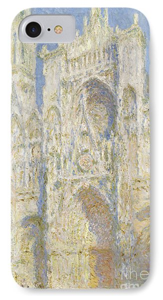 Rouen Cathedral West Facade IPhone Case by Claude Monet