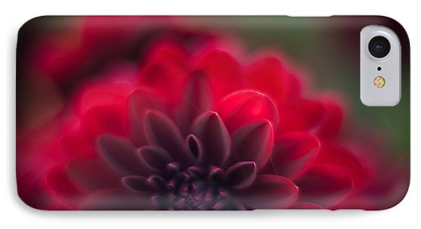 Rouge Dahlia IPhone Case by Mike Reid