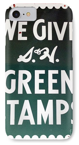 Route 66 Odell Il Gas Station Green Stamps Signage Phone Case by Thomas Woolworth