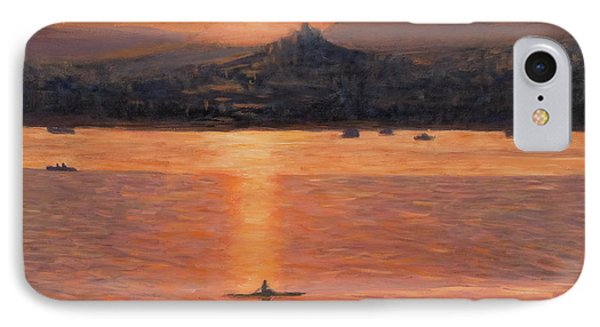 Rowing In The Sunset Phone Case by Marco Busoni