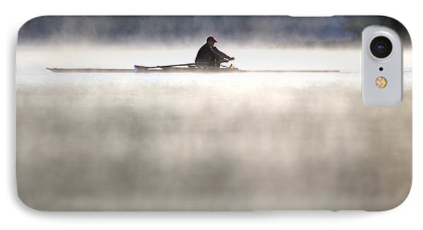 Rowing IPhone Case by Mitch Cat