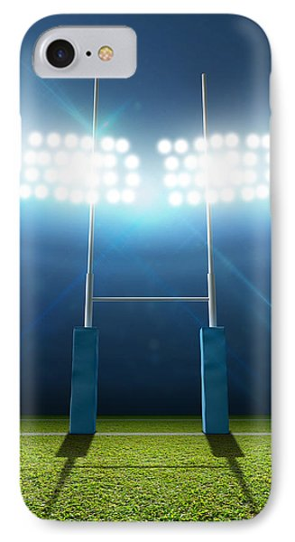 Rugby Stadium And Posts IPhone Case by Allan Swart