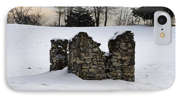 Ruin At Philadelphia Cricket Club In Winter IPhone Case by Bill Cannon