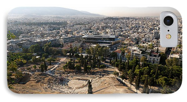 Ruins Of A Theater With A Cityscape IPhone Case by Panoramic Images