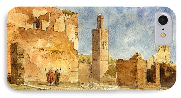 Ruins Of Chellah  IPhone Case by Juan  Bosco