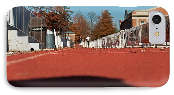 Runners - Irwin Belk Track - Davidson College IPhone Case by Paulette B Wright