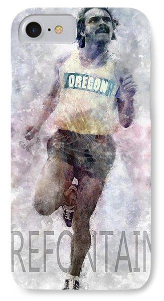 Running Legend Steve Prefontaine IPhone Case by Daniel Hagerman