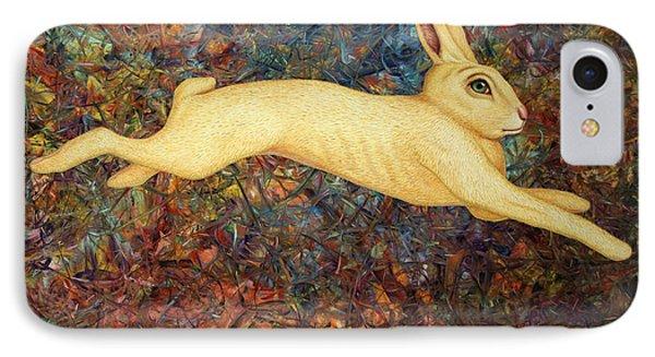 Running Rabbit IPhone Case by James W Johnson