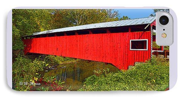 IPhone Case featuring the photograph Rupert Covered Bridge Pennsylvania by A Gurmankin