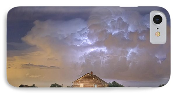 Rural Country Cabin Lightning Storm Phone Case by James BO  Insogna