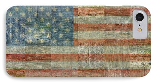 Rustic American Flag IPhone Case by Michelle Calkins