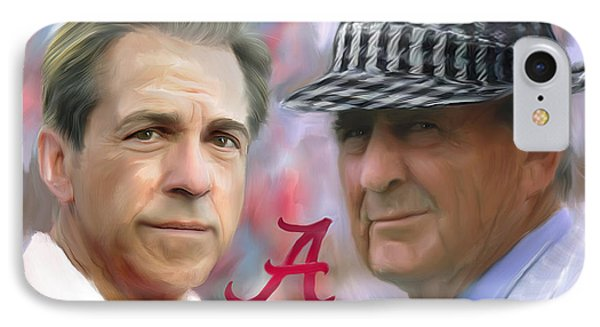 Saban And Bear IPhone Case by Mark Spears