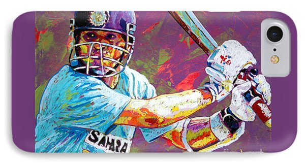 Sachin Tendulkar IPhone 7 Case by Maria Arango