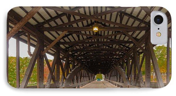 Saco River Bridge Phone Case by Karen Stephenson