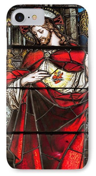 Sacred Heart Of Jesus IPhone Case by Bonnie Barry