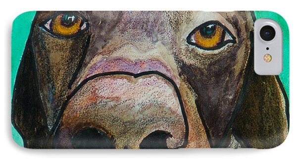 Sad Eyes IPhone Case by Roger Wedegis