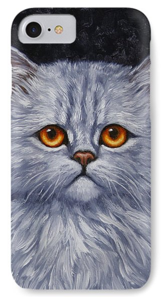 Sad Kitty Phone Case by Crista Forest