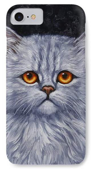 Sad Kitty IPhone Case by Crista Forest
