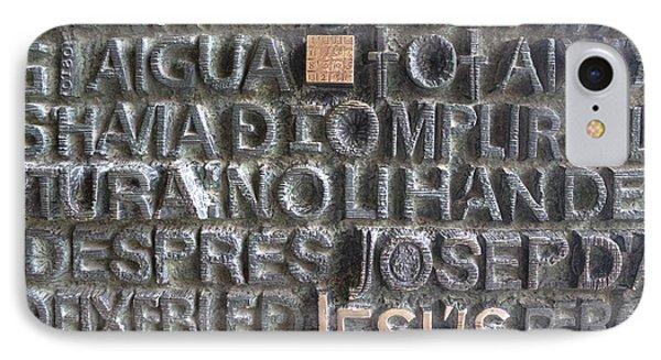 Sagrada Familia Door IPhone Case by Jane Linders