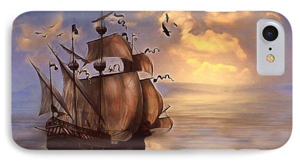 Sail Into My Dreams Vintage IPhone Case by Georgiana Romanovna