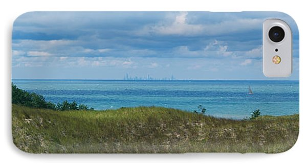 Sailboat In Water, Indiana Dunes State IPhone Case by Panoramic Images