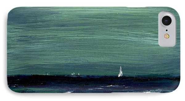 Sailboats Across A Rough Surf Ventura Phone Case by Cathy Peterson