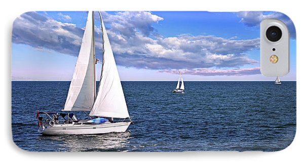 Sailboats At Sea IPhone Case by Elena Elisseeva