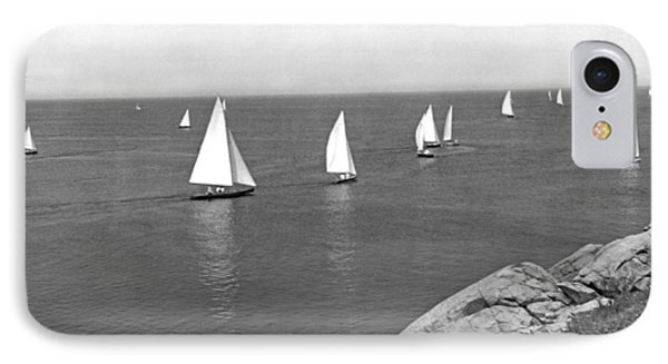 Sailboats On A Calm Day. IPhone Case by Underwood Archives
