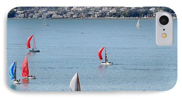 Sailboats On San Francisco Bay IPhone Case by Panoramic Images