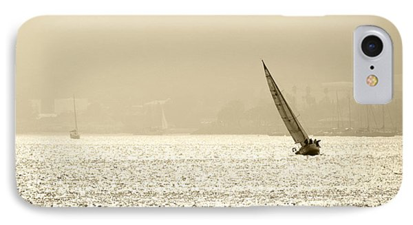 Sailing In San Diego Harbor Phone Case by Artist and Photographer Laura Wrede