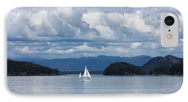 Sailing In The San Juans Phone Case by Carol Groenen