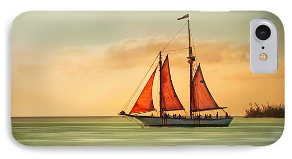 Sailing Into The Sun Phone Case by Hannes Cmarits