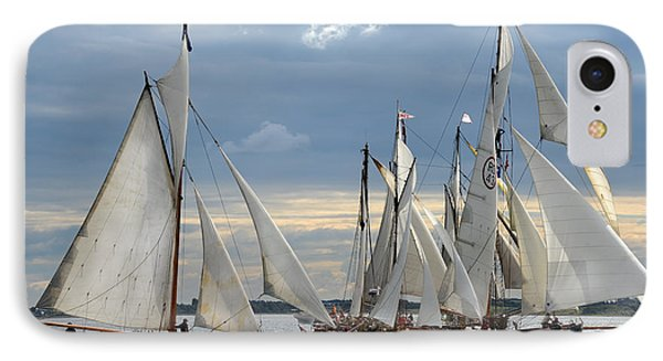 Sailing The Limfjord IPhone Case by Robert Lacy
